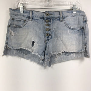 Free People 26 Runaway Slouch Denim Shorts
